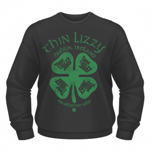 THIN LIZZY FOUR LEAF CLOVER CREW NECK SWEATER (S) (Brand New)